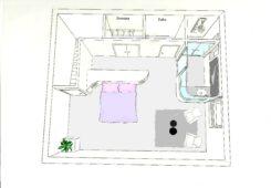 Riviera Home Concept - PROJET 1er étage CHAMBRE VILLA BELVEDERE VUE DU DESSUS