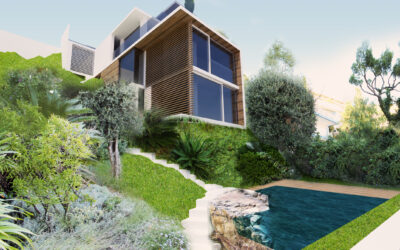 Projet et PC pour modifications de façades d'une villa + construction d'une piscine à Villefranche sur mer
